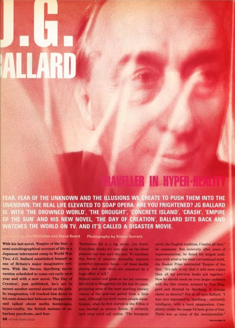 i think, therefore i instagram. cyberpunk novelist j.g. ballard, predicted social media in i-D 27 years ago | i-D Magazine